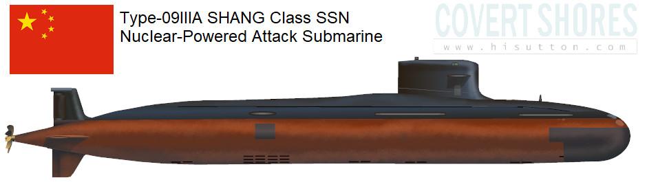China Type-093 Shang Class Submarine - Covert shores