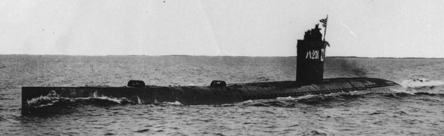 Japanese 波201 (HA201) Sen-Taka-Sho fast attack submarine from World War 2
