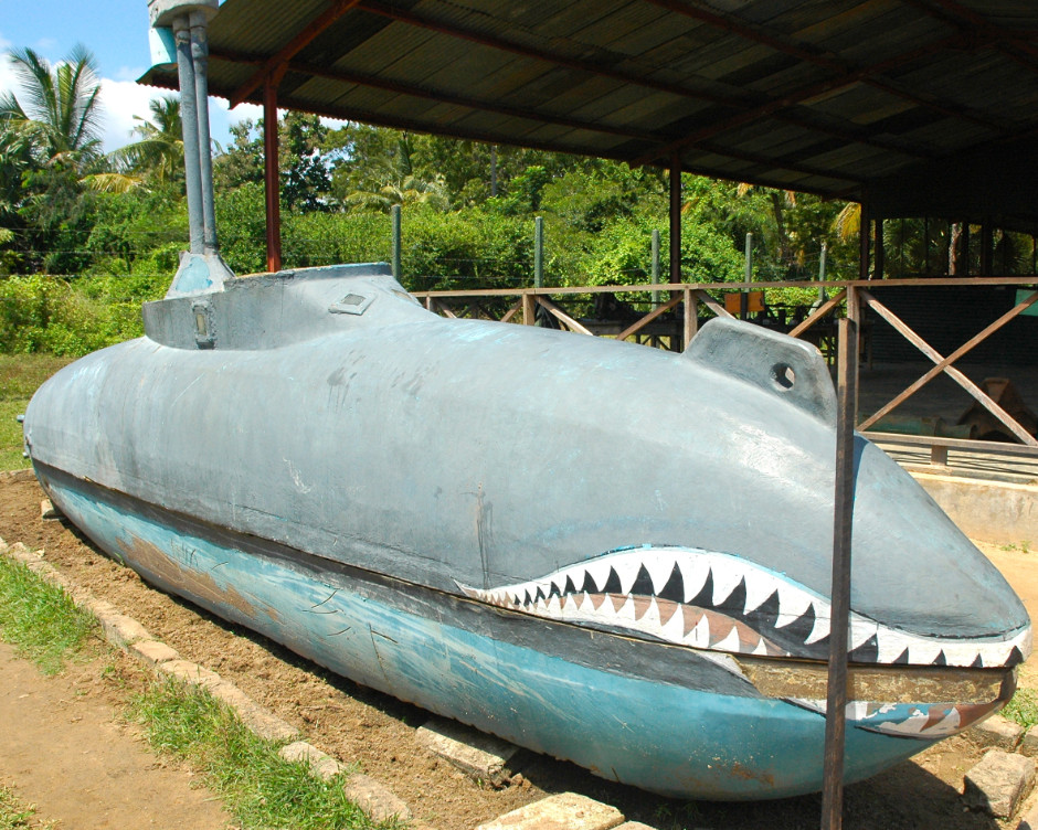 LTTE Tamil Tigers Sea Tigers homemade semi-sub
