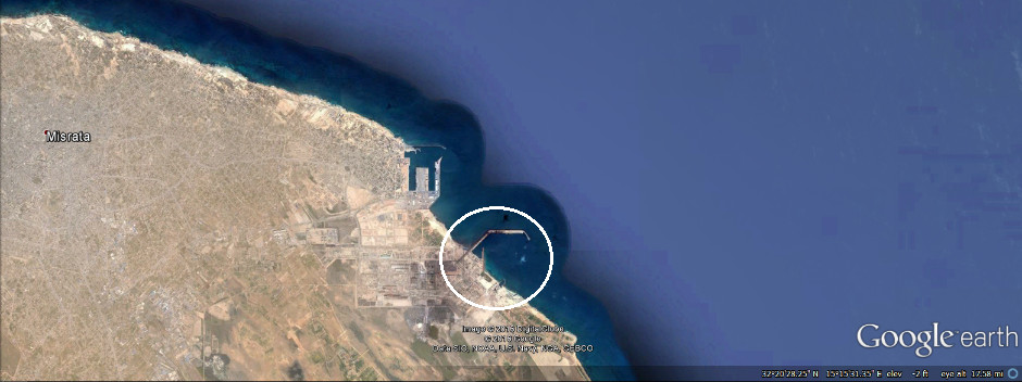 Two ships of the Shura Council of Benghazi Revolutionaries blown up in Misrata