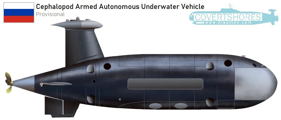 Programa de veículo autônomo armado submarino russo 'Cefalópodes' - Covert Shores