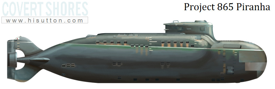 Russian piranha special forces submarine
