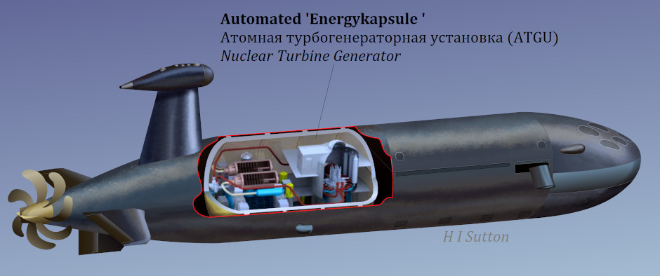 Russian Navy Nuclear-Powered combat AUV - Covert Shores