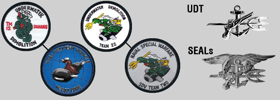 UDT and SDVT badges