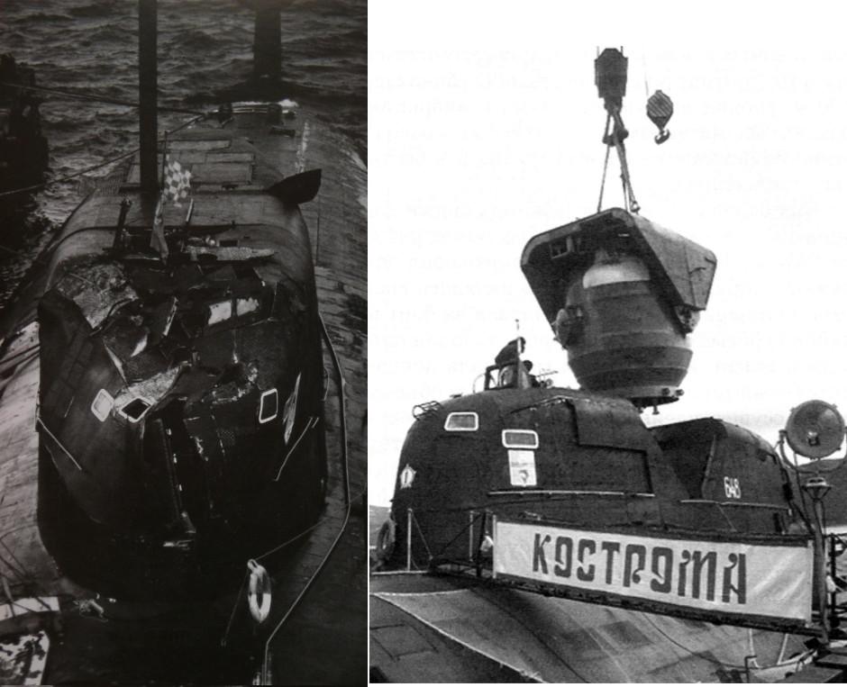 """الغواصات النووية الهجومية..للبحرية السوفييتية .""""الجزء الاول """" SIERRA_Crash"""