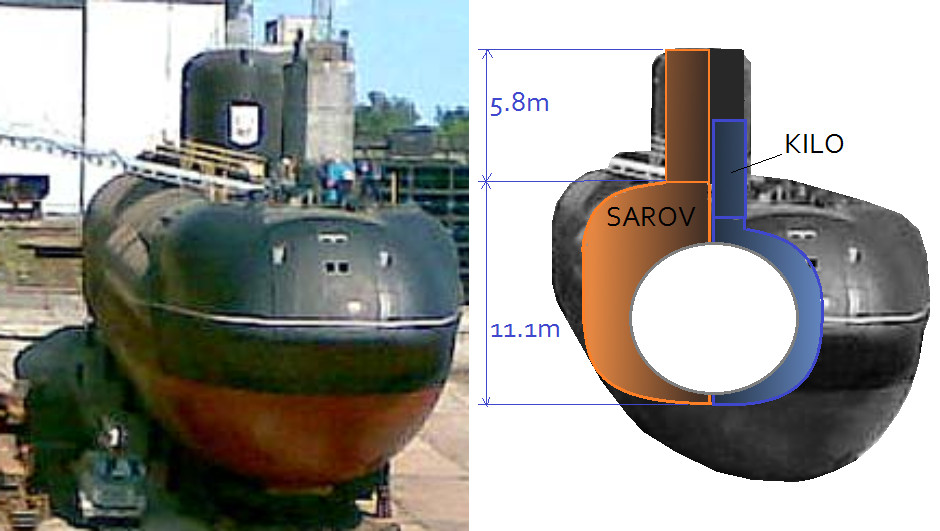 Sarov in dry dock
