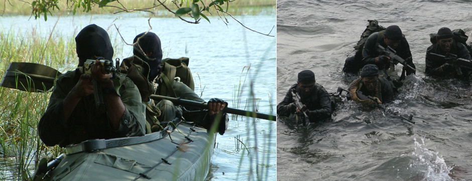 Sri Lankan Navy Special Forces - SBS swimmer canoeists
